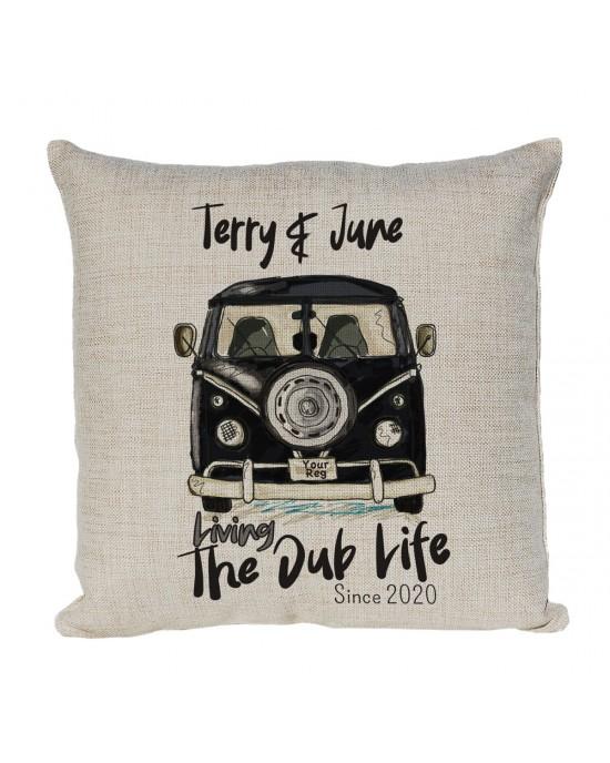 Personalised Linen cushion Personalised Vintage Camper Van Bus V-DUB