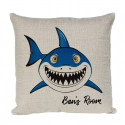 Personalised Cartoon Shark Cushion