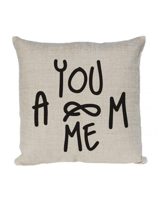 Personalised Cushion, Initials cushion Monogram You & Me Love Forever