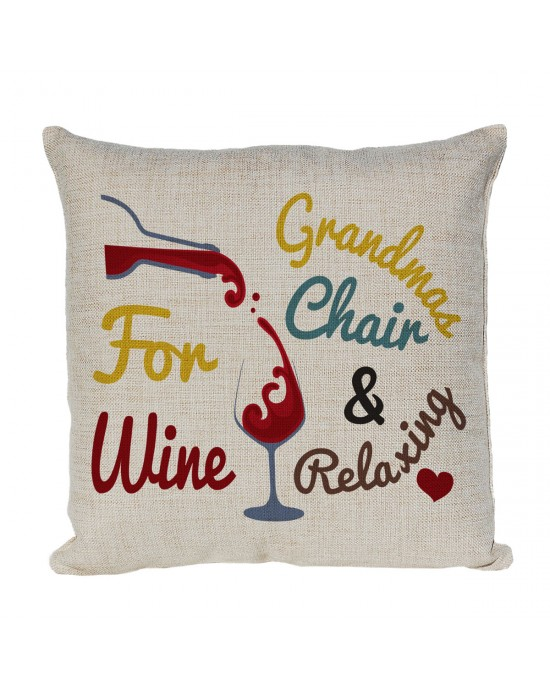 Personalised Linen cushion Fun Gift, for Wine Lovers.
