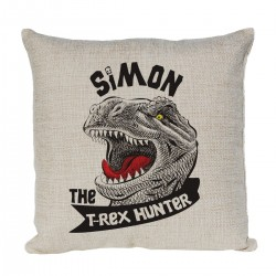Personalised Dinosaur T-Rex Cushion. For Children's Bedroom