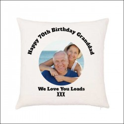 Single Photo Photo Cushion. Upload your photo with text. Cover & / or Inner Cushion.