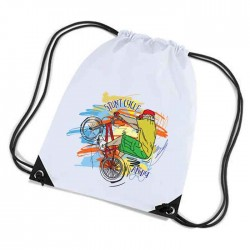 Stunt Cycle Personalised Sports Nylon Draw String Gym Sack Pack & Rope Bag. Colourful Grunge Style