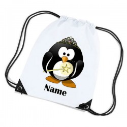 Fairy Penguin Personalised Sports Nylon Draw String Gym Sack Pack & Rope Bag.