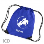 Equestrian, Horse Personalised Sports Nylon Draw String Gym Sack Pack & Rope Bag.