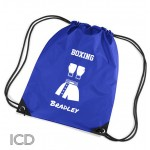 Boxing Martial Arts Personalised Sports Nylon Draw String Gym Sack Pack & Rope Bag.