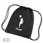 Personalised Cheer Leader Dance Sports Nylon Draw String Gym Sack Pack & Rope Bag.