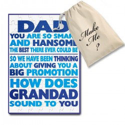 Tell granddad your are having a baby fun Personalised jigsaw puzzle