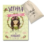 Personalised  Jigsaw message puzzle. Flower Girl With optional Hair Colour