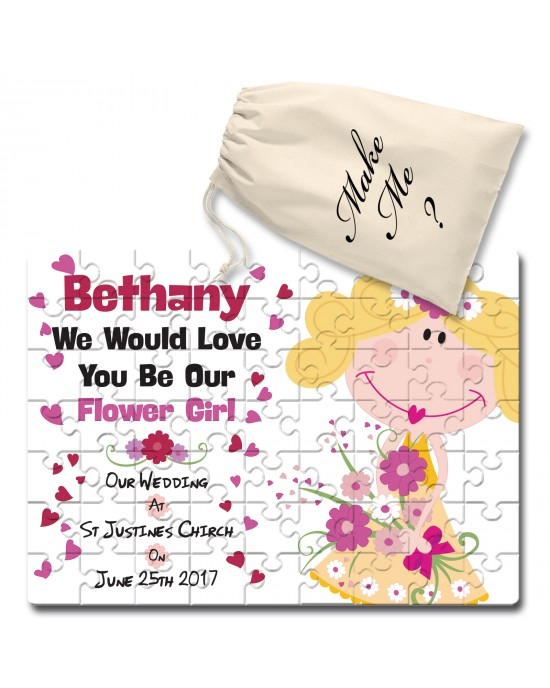 Personalised Will You Be Our Flower Girl Jigsaw