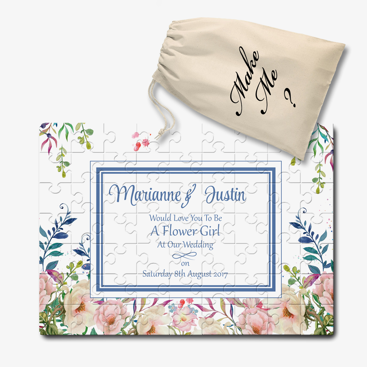Personalised Will You Be Our My Wedding Invitation Jigsaw Message Puzzle