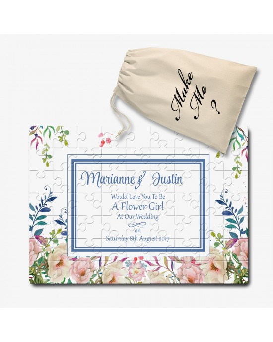 Personalised Will You Be Our / My Wedding Invitation Jigsaw message Puzzle