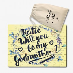 Will You Be My Godmother, Personalised  jigsaw puzzle