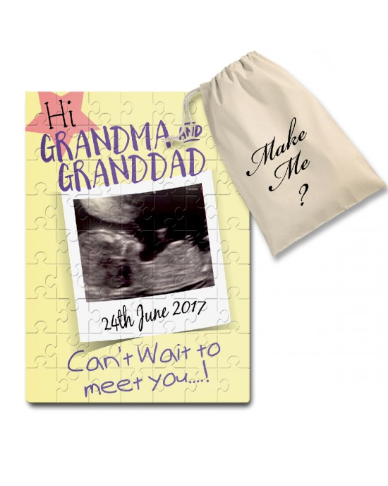 Personalised Pregnancy announcement jigsaw puzzle
