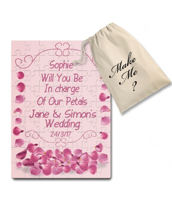 Will You Be in charge of the petals, Flower Girl Personalised  jigsaw puzzle
