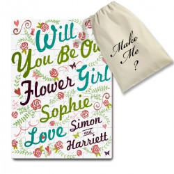 Will You Be My Bridesmaid / flower Girl, Personalised jigsaw puzzle