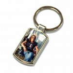 Photo Key Ring. Polished Silver colour in a presentation box
