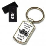 My Other Car's A Steam Engine Key Ring. Polished Silver colour in a presentation box