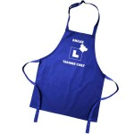 Kids Learner Fun Coloured Apron. Colour variations. Have Your Childs Name printed