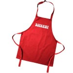 Kids Coloured Aprons. Colour variations. Have Your Childs Name printed