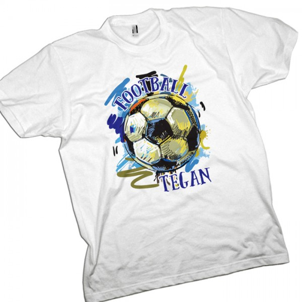 Football T-Shirt Personalised Grunge Football