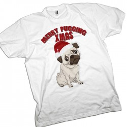 Pugging Christmas, Pug Dog T-Shirt
