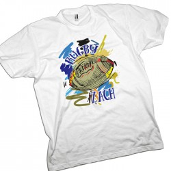Rugby Sports Grunge Ball Personalised T-Shirt