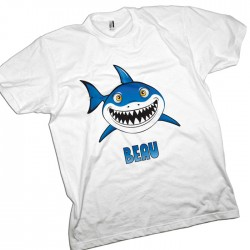 Cartoon Shark, Great White Personalised T-Shirt.