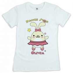 Cute Little Dancing Star Bunny Personalised T-Shirt