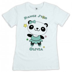 Cute Little Dancing Star Panda Personalised T-Shirt