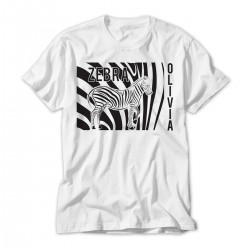 Zebra Design Fun Personalised T-Shirt