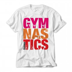 Personalised Gymnastics Colourful T-Shirt
