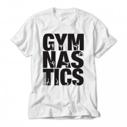 Gymnastics Black Print Large Text Personalised T-Shirt