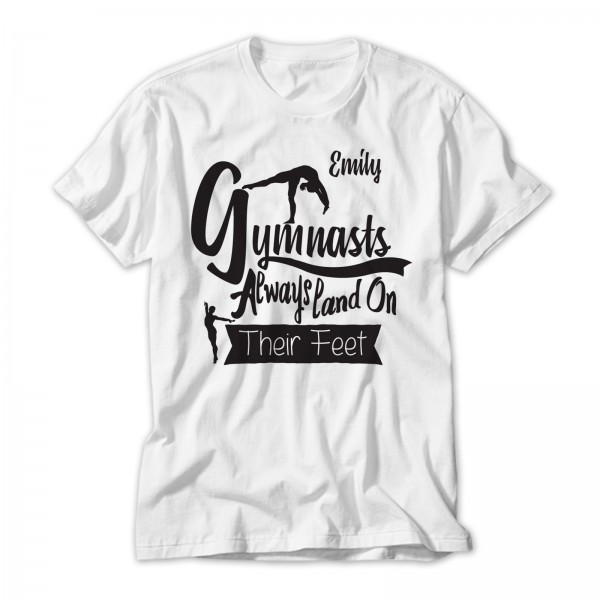 Gymnasts Always Land On Their Feet Personalised T-Shirt