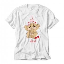 Teddy Bear Love Personalised Kids T-Shirt