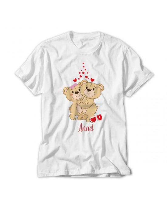 Teddy Bear Love Personalised Kids T-Shirt