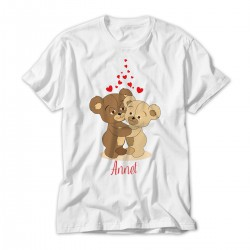 Teddy Bears in Love Personalised Kids T-Shirt
