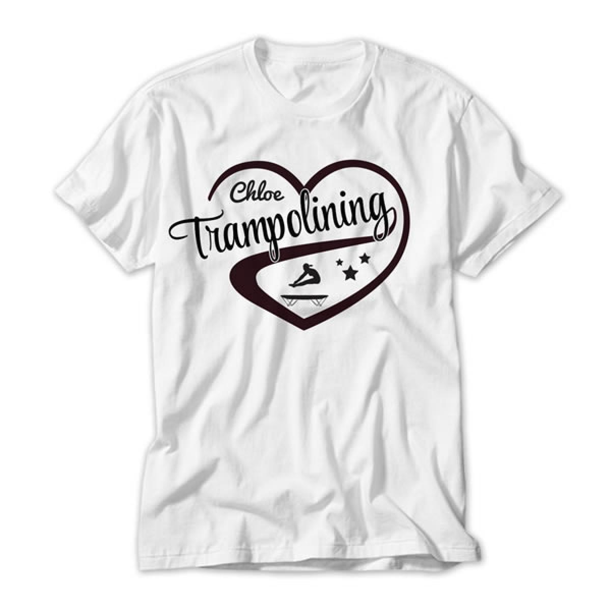 love trampolining design personalised kids t shirt. Black Bedroom Furniture Sets. Home Design Ideas