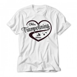 Love Trampolining Design Personalised Kids T-Shirt
