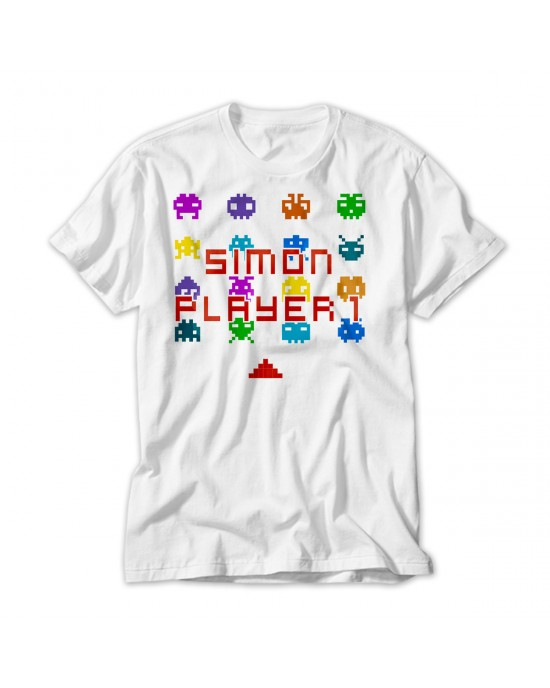 Personalised Gamer T-Shirt. Available In White Lovely Quality Cotton Feel. Girls or Boys In sizes 3 yrs to 14 yrs