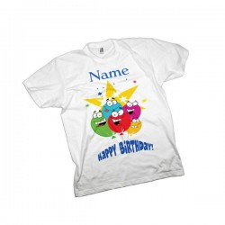 Birthday Kids T-Shirt. Available In White Lovely Quality Cotton Feel. Girls or Boys Birthday Christmas Gift Idea