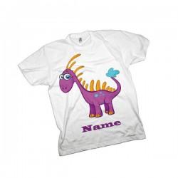 Pink Dinosaur Personalised T-Shirt
