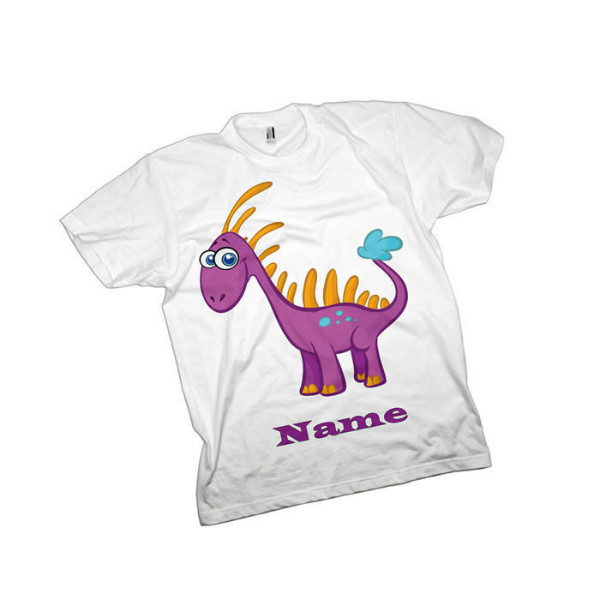 Pink Dinosaur Personalised T-Shirt