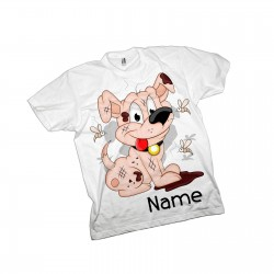 Scruffy Dog Cute Personalised  T-Shirt.