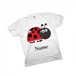 Ladybird Cute Personalised Kids T-Shirt