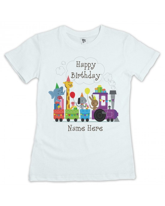 Personalised Childrens Birthday T Shirt Available In White Lovely Quality Cotton Feel Girls Or Boys Sizes 3 Yrs To 11