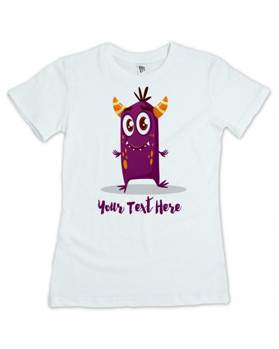 Personalised Children's Little Monster T-Shirt. Your Text /Name/Message Added