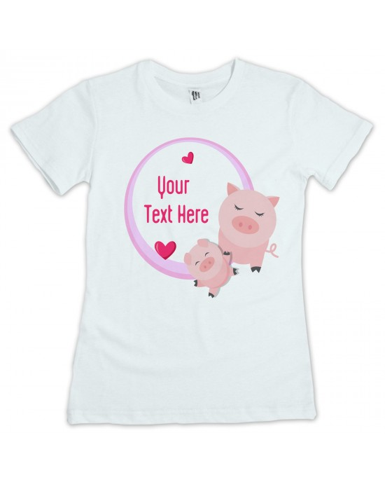 Personalised Children's Little Piglets T-Shirt. Your Text /Name/Message Added