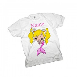 Mermaid Personalised Kids T-Shirt.  Quality Cotton Feel