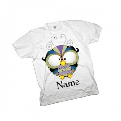 Owl Personalised Kids T-Shirt.